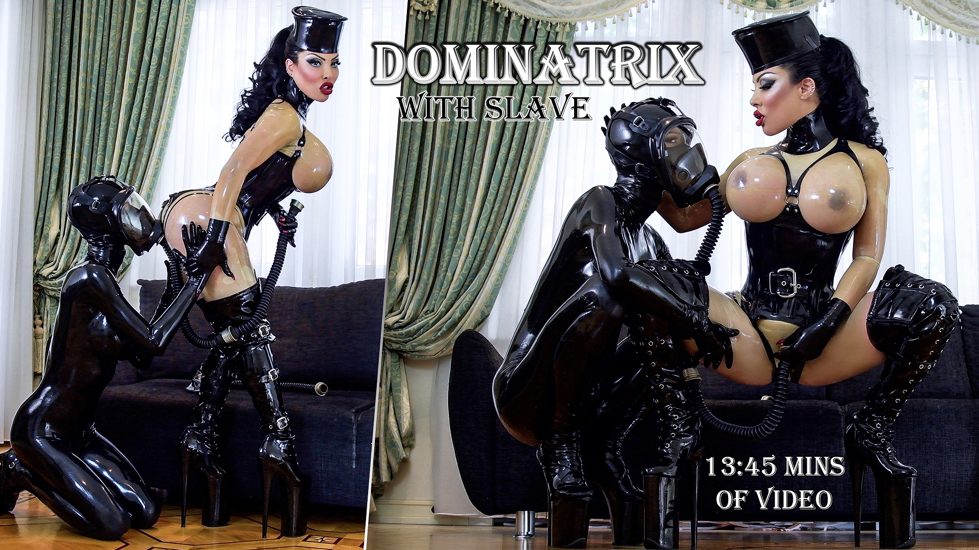 Dominatrix with Slave Kylie Marilyn